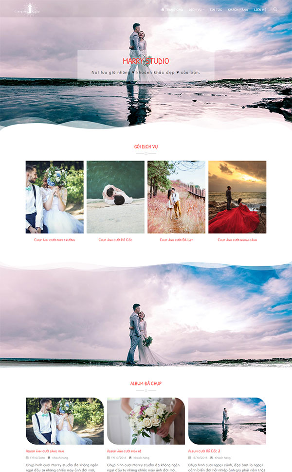 Mẫu web wedding studio