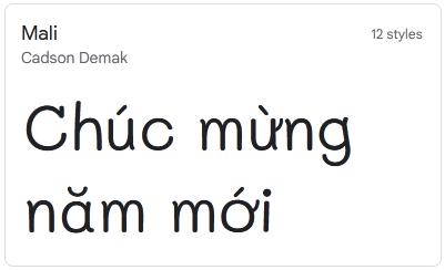 Mali font